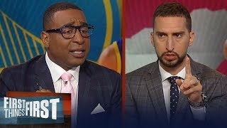 Raptors or Warriors? Nick & Cris make their prediction for the NBA Finals | NBA | FIRST THINGS FIRST