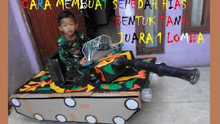 how to make bicycle like army tank