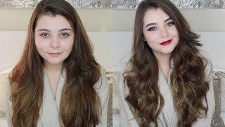 Maquillaje para labios rojos y peinado con ondas sueltas!