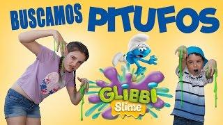 BUSCANDO PITUFOS EN LA ALDEA ESCONDIDA DE SLIME // Juegos y Juguetes en Familia
