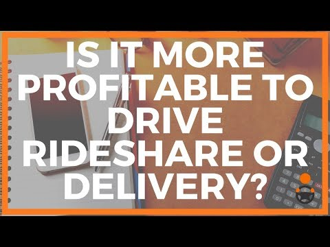 Will You Make More Driving for Uber/Lyft or Delivering Food?