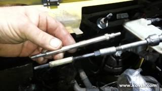 Демонтаж свечи накала на Opel Vivaro 2.5 DCI(Сайт СТО