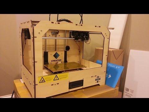 FlashForge Creator 3D Printer Unboxing