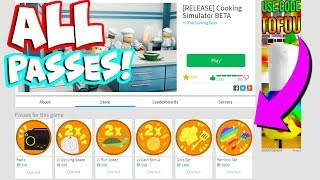 BUYING ALL GAME PASSES FOR COOKING SIMULATOR! (Roblox)