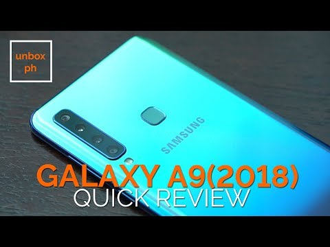 Samsung Galaxy A9 (2018) Quick Review:  First Phone With Four Rear Cameras!