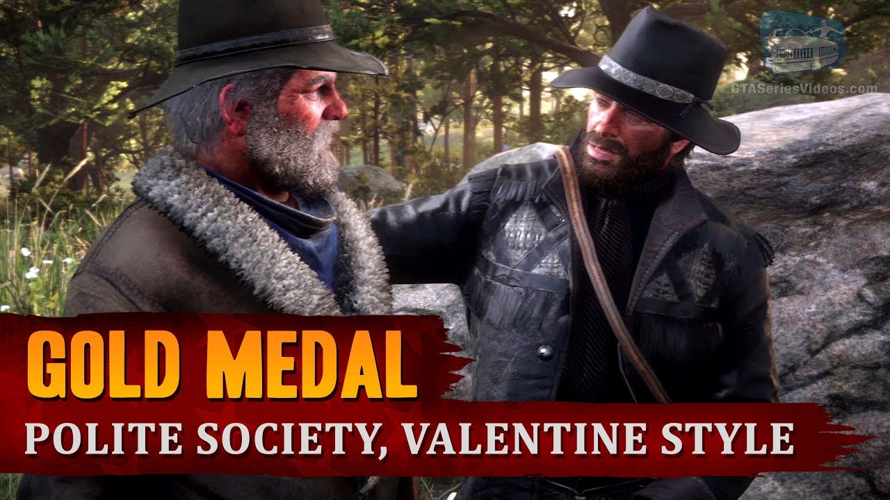 Red Dead Redemption 2 - Mission #8 - Polite Society, Valentine Style [Gold Medal]