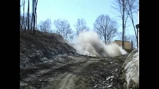 03 24 2009 Blasting A Rock Shelf Out On An Engineering Job