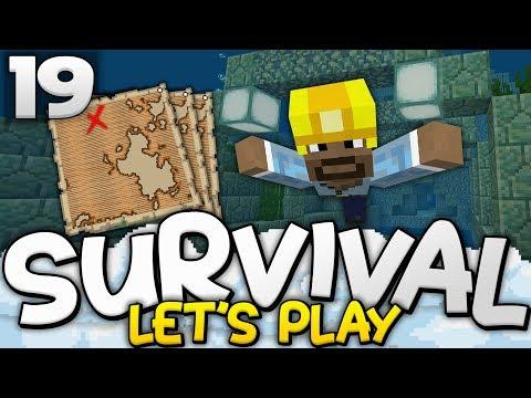 7 TREASURE MAPS!?!  Survival Lets Play Ep 19  Minecraft Bedrock PE W10 XB1