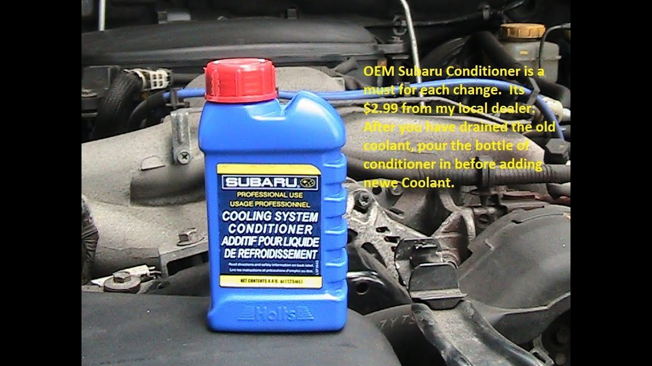 Subaru Outback 2008 Do It Right Antifreeze Coolant Change ...