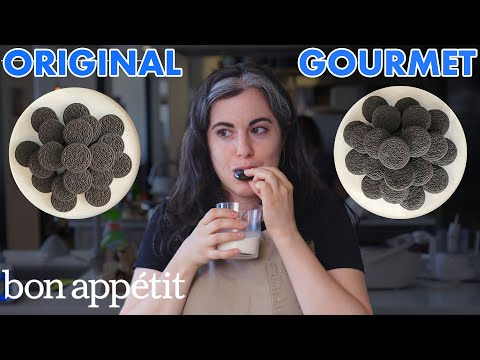 Pastry Chef Attempts To Make Gourmet Oreos | Gourmet Makes | Bon Apptit