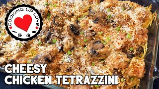 Cheesy Chicken Tetrazzini  Easy Dinner Recipes  Cooking Up Love