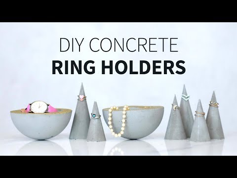 Concrete ring cones & jewelry holders | How to