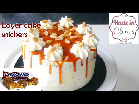 layer cake snickers facile et rapide | made in clems - youtube