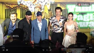 'Yamla Pagla Deewana: Phir Se' trailer launch with the cast and crew