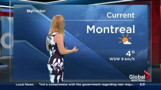 Disappearing screen - weather blooper - Global News Morning Montreal
