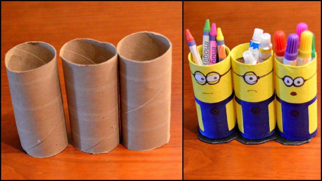 Minion Toilet Paper Roll Craft