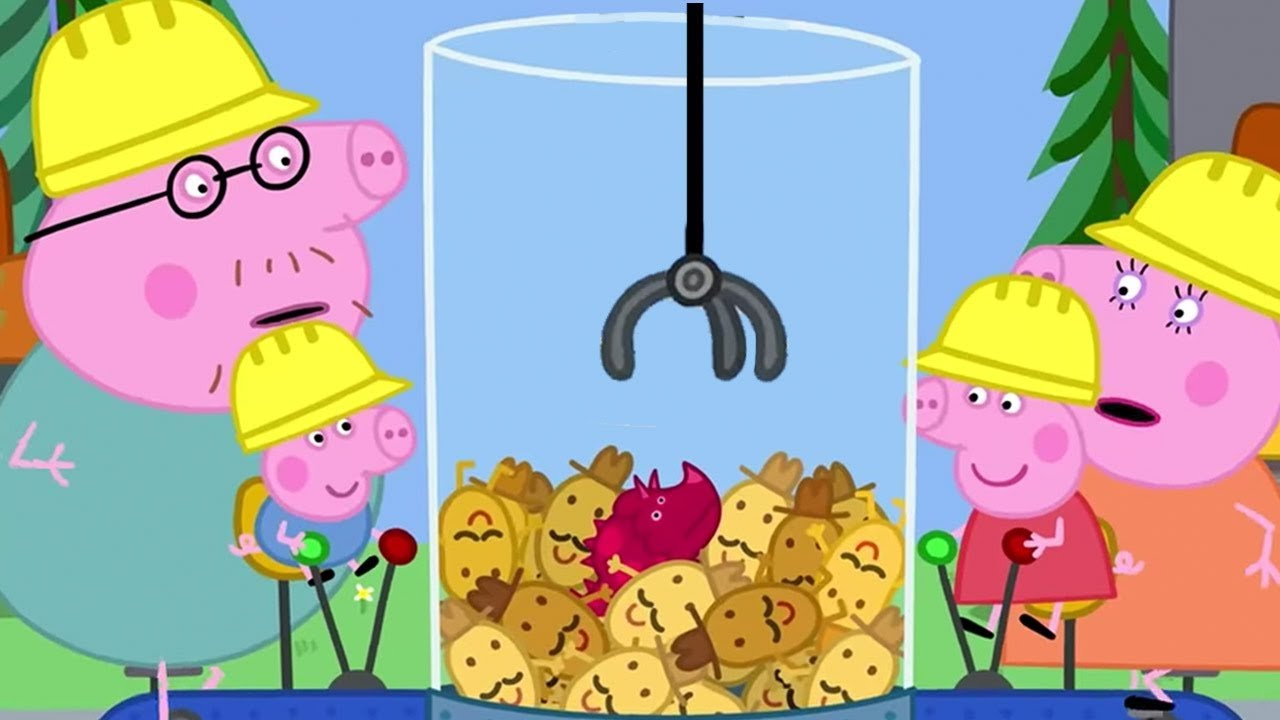 Peppa Pig Official Channel | Peppa Pig Plays Grabber Machine at Digger World