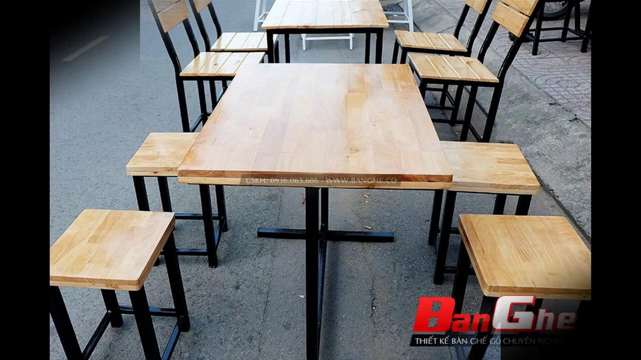 Xưởng chuyên cung cấp các loại bàn ghế gỗ khung sắt dành cho quán ăn giá rẻ