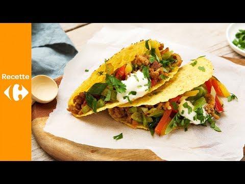 taco-croustillant-au-poulet-haché-épicé
