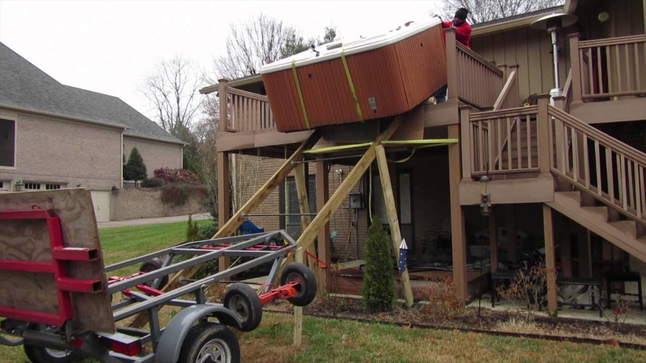9 39 high deck move spa hot tub 7x7 cal spa the spa guy for How to move a building