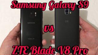 Samsung Galaxy S9 vs ZTE Blade V8 Pro Speed Test Comparison