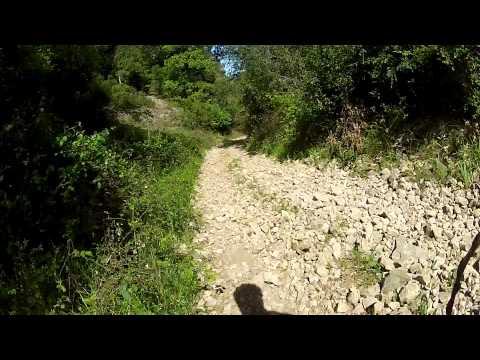 Bajada en bici hasta santacruz de campezo-kampezu desde el puerto de Nazar