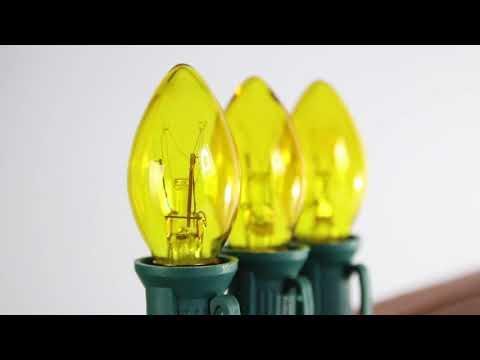 Yellow C7 Twinkle Bulb Incandescent
