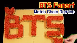 BTS Fanart - Match Chain Reaction Amazing Fire Domino