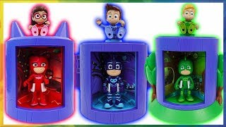 PJ Masks! become a more perfect superhero at transforming base! toys pretend play  MariAndKids Toys