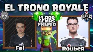 """JUGADOR CRL vs JUGADOR SLO ¿ QUIEN GANARA ?   """"TRONO ROYALE"""" - CLASH ROYALE"""