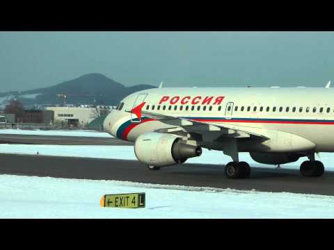 Rossiya - Russian Airlines Airbus A319 & VIM Airlines Boeing 757 at  Salzburg Airport (SZG/LOWS) HD