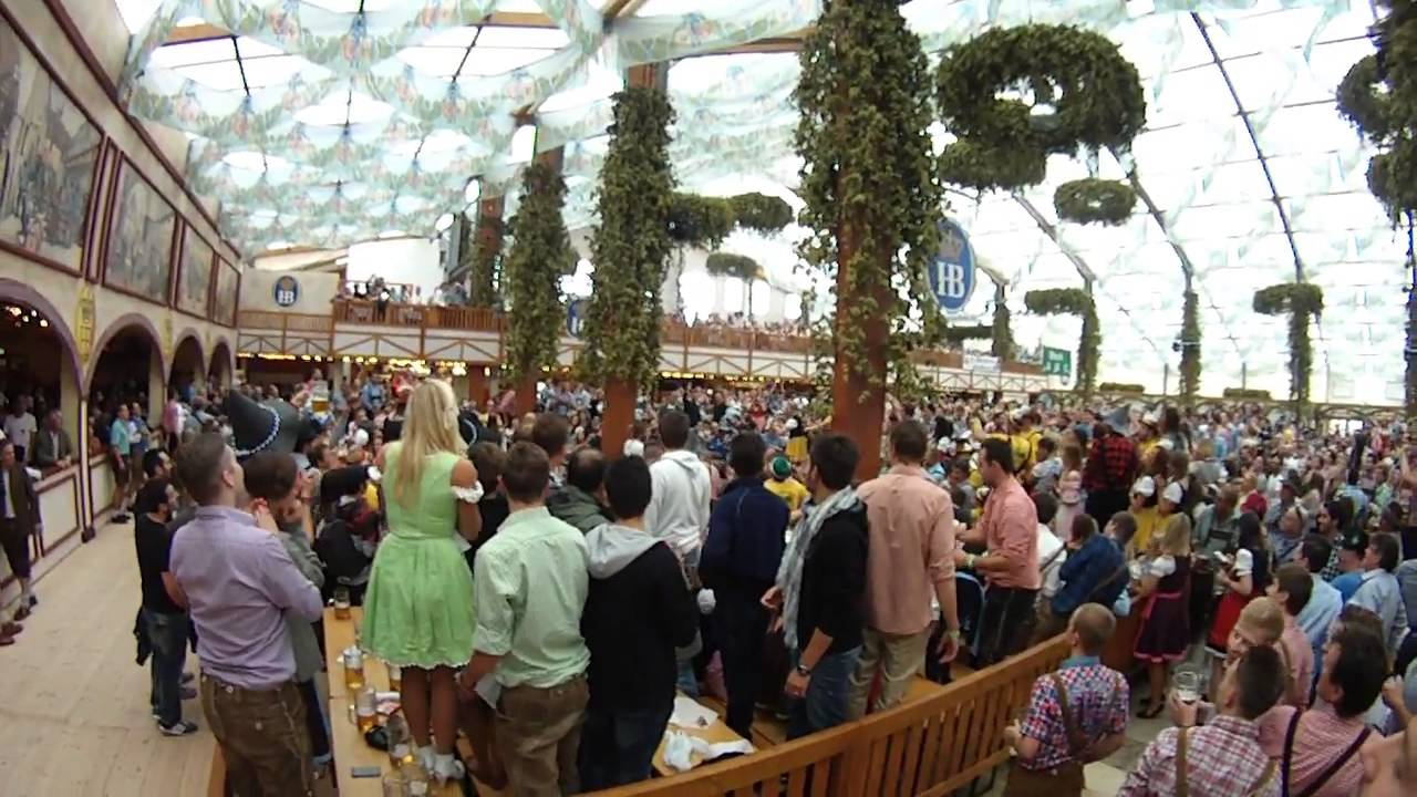 & Oktoberfest in Munich Germany HB tent 2013 - YouTube