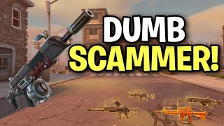 Dumb Angry Scammer Scams Himself! (Scammer Get Scammed) Fortnite Save The World