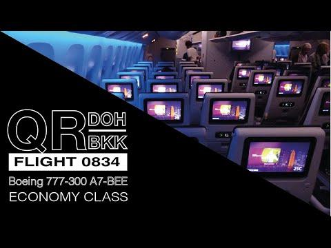 TRIP REPORT | Qatar Airways |  777-300 | Doha to Bangkok | Full Flight