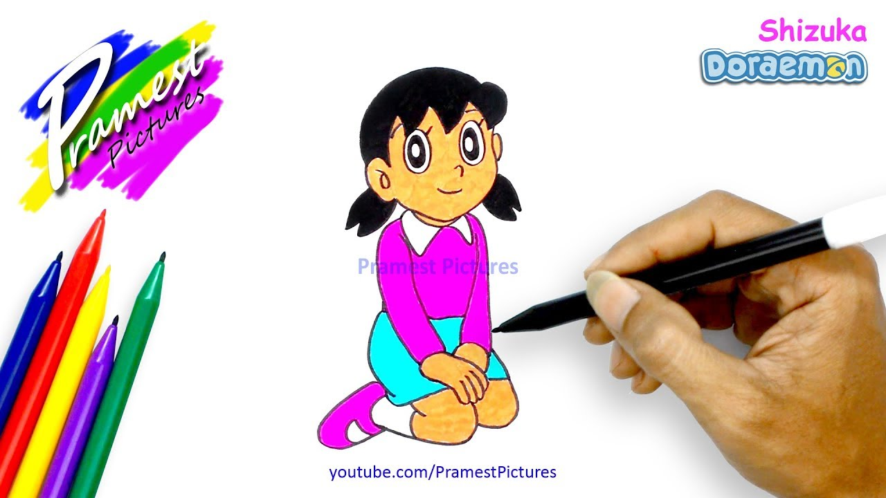 How To Draw Shizuka Doraemon Coloring Pages