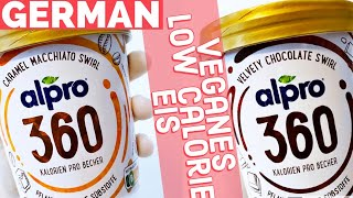 NEUES veganes ALPRO EIS! 360 kcal: Review DE