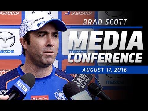 August 17, 2016 - Brad Scott media conference