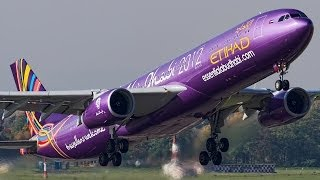 Best Airbus A330 ever! Etihad Airbus A330-300 special colours (HD)