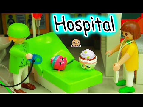 Craziest Day At the Playmobil Childrens Hosptial Part 2 - Crazy Weird Shopkins Medical Video