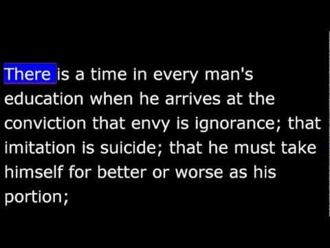 SelfReliance  Ralph Waldo Emerson