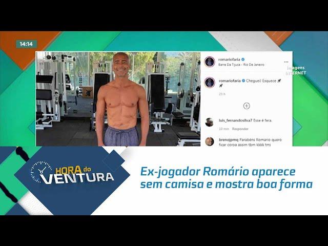 Ex-jogador Romário aparece sem camisa e mostra boa forma aos 55 anos