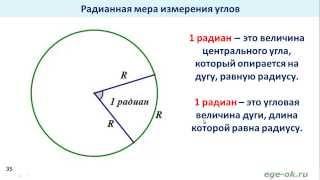 Тригонометрия. Что такое радиан