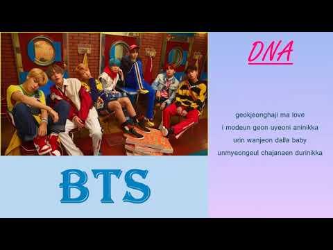 Bts 방탄소년단 'dna'  Mini Album : Love Yourself 承 `her`  Romanized  Lyrics    Audio