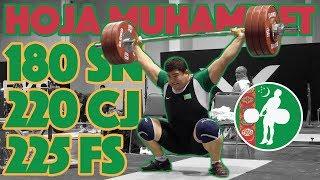 Hoja Muhammet Heavy Training (180kg Snatch + 220kg C&J + 225kg FS) - 2017 WWC [4k 60]