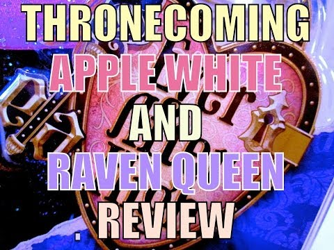 EVER AFTER HIGH APPLE WHITE AND RAVEN QUEEN THRONECOMING ...