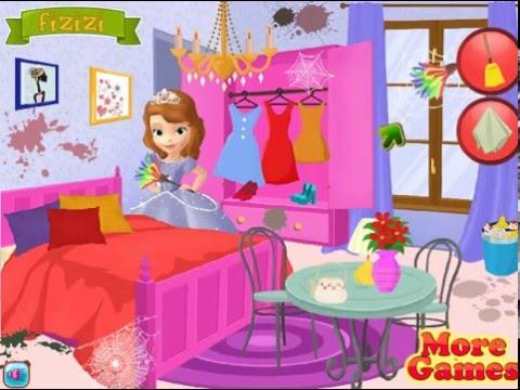 Мультик игра София Прекрасная делает уборку (Sofia House Cleaning)