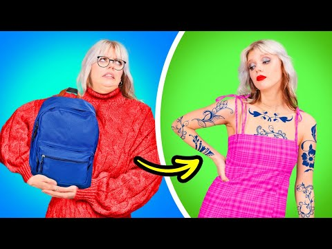 From Nerdy To Popular! DIY Tattoo, Fake Piercing, Girly Beauty Hacks By A PLUS SCHOOL