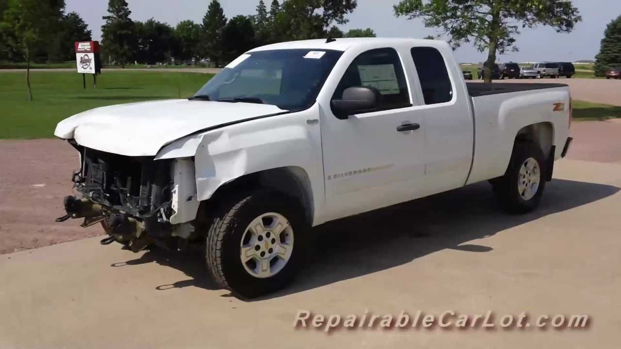 2007 chevrolet silverado lt quadcab z71 4x4 repairable wrecked truck autoplex inc hd