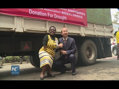 China donate 144 tons of food aid to Kenya's drought victims