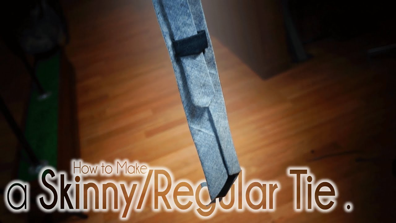 How to Make a Skinny Tie and Regular Necktie | Easy DIY ...